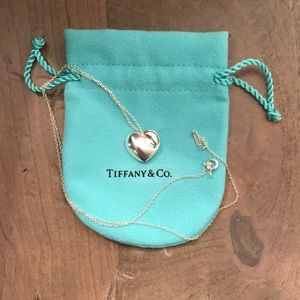 Tiffany & Co. solid heart necklace